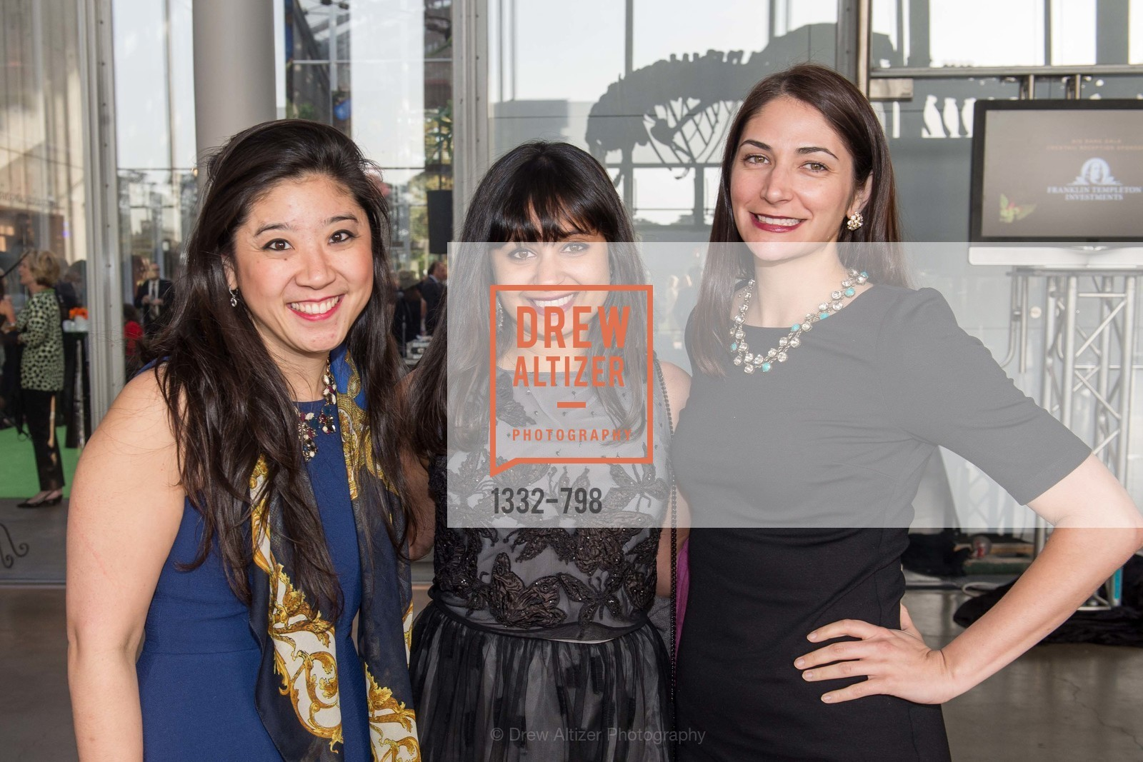 Jessica Isokawa, Agiti Iyer, Leah Recht, CALIFORNIA ACADEMY OF SCIENCES - Big Bang Gala 2015, US, April 23rd, 2015,Drew Altizer, Drew Altizer Photography, full-service agency, private events, San Francisco photographer, photographer california