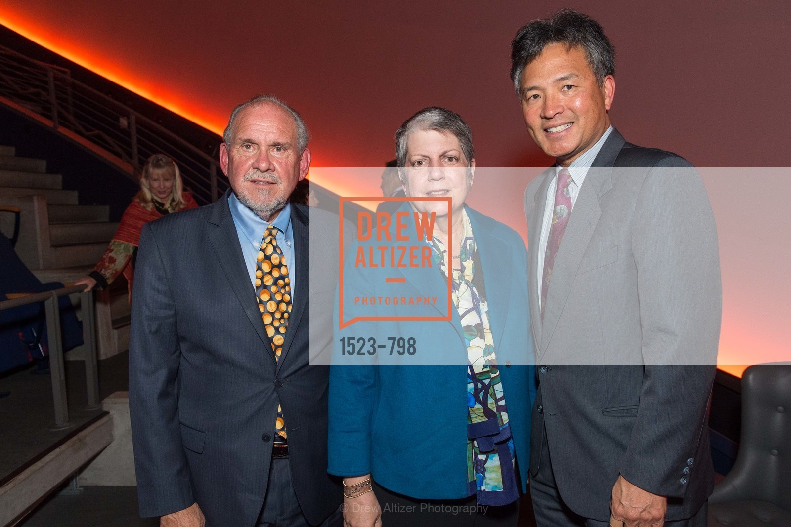Larry Brilliant, Janet Napolitano, Milton Chen, CALIFORNIA ACADEMY OF SCIENCES - Big Bang Gala 2015, US, April 24th, 2015,Drew Altizer, Drew Altizer Photography, full-service event agency, private events, San Francisco photographer, photographer California