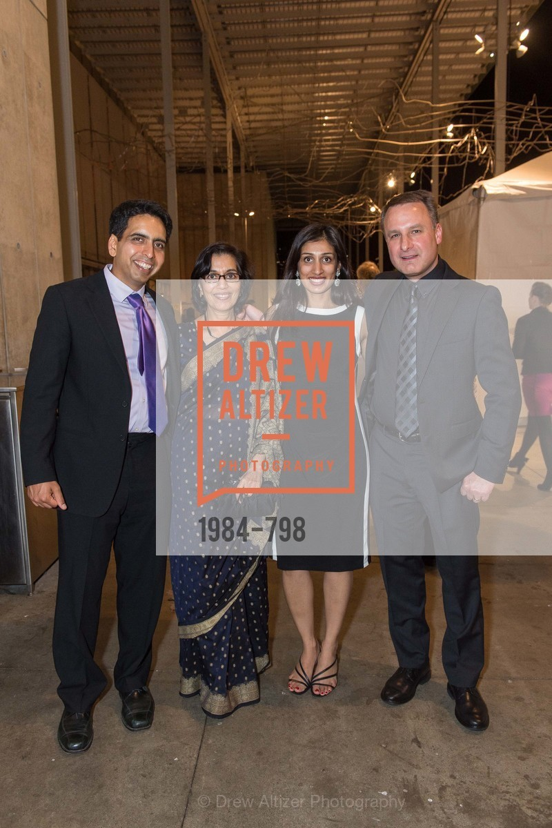 Sal Khan, Naseem Marvi, Umaina Marvi, Jon Foley, CALIFORNIA ACADEMY OF SCIENCES - Big Bang Gala 2015, US, April 23rd, 2015,Drew Altizer, Drew Altizer Photography, full-service agency, private events, San Francisco photographer, photographer california