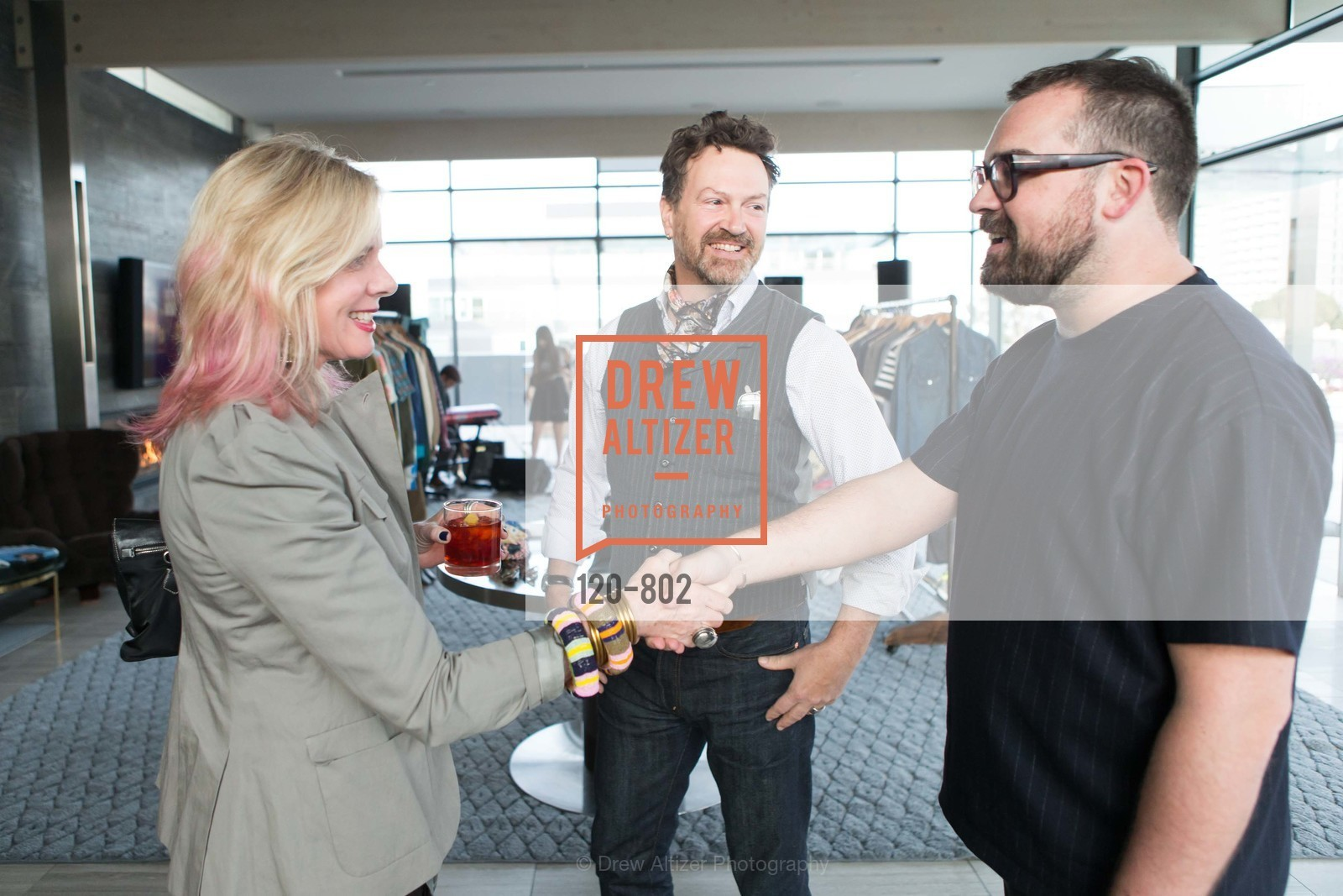Susan McLaughlin, Paul D'Orleans, Andrew Lord, MR PORTER Celebrate The San Francisco Issue of The Journal, US, April 24th, 2015
