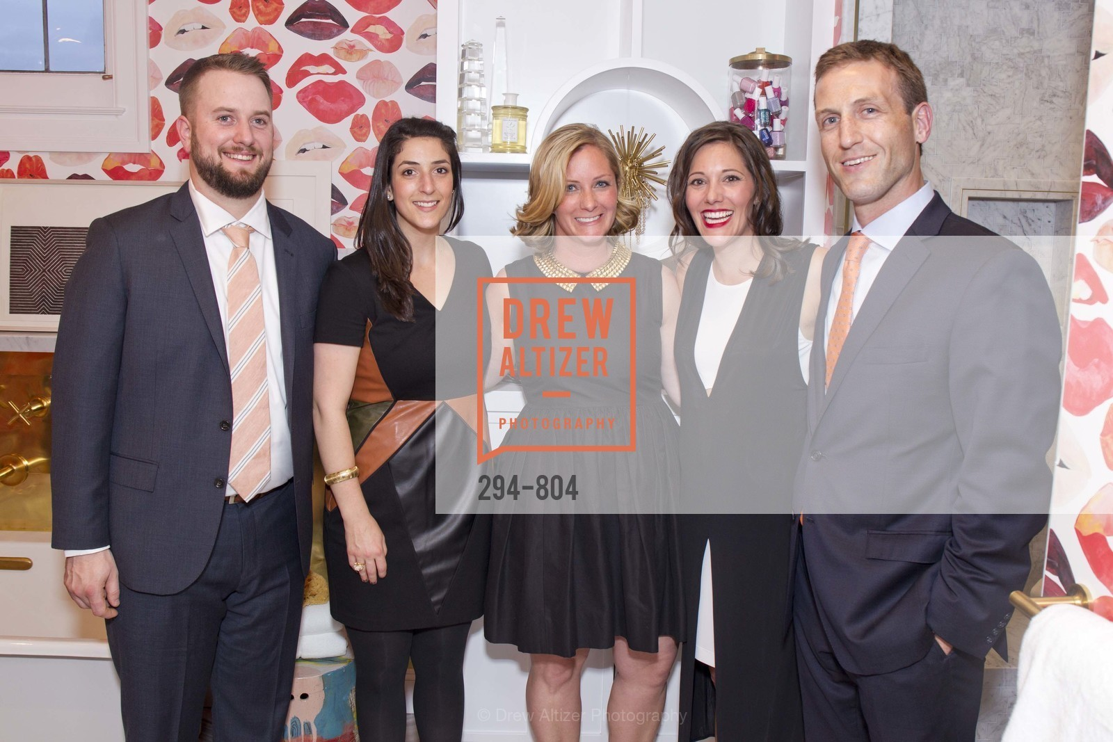 Ross Wunderlich, Reid Bloom, Jennifer Wundrow, Heather Brock, Tyler Brock, San Francisco Decorator Showcase Opening Night Party, US, April 25th, 2015,Drew Altizer, Drew Altizer Photography, full-service agency, private events, San Francisco photographer, photographer california